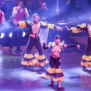 A group of Cuban dancers performing onstage