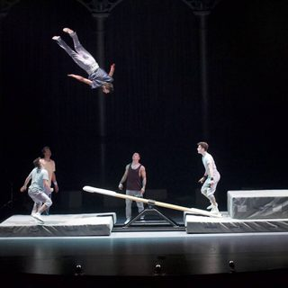 Barely Methodical Troupe performing onstage in KIN