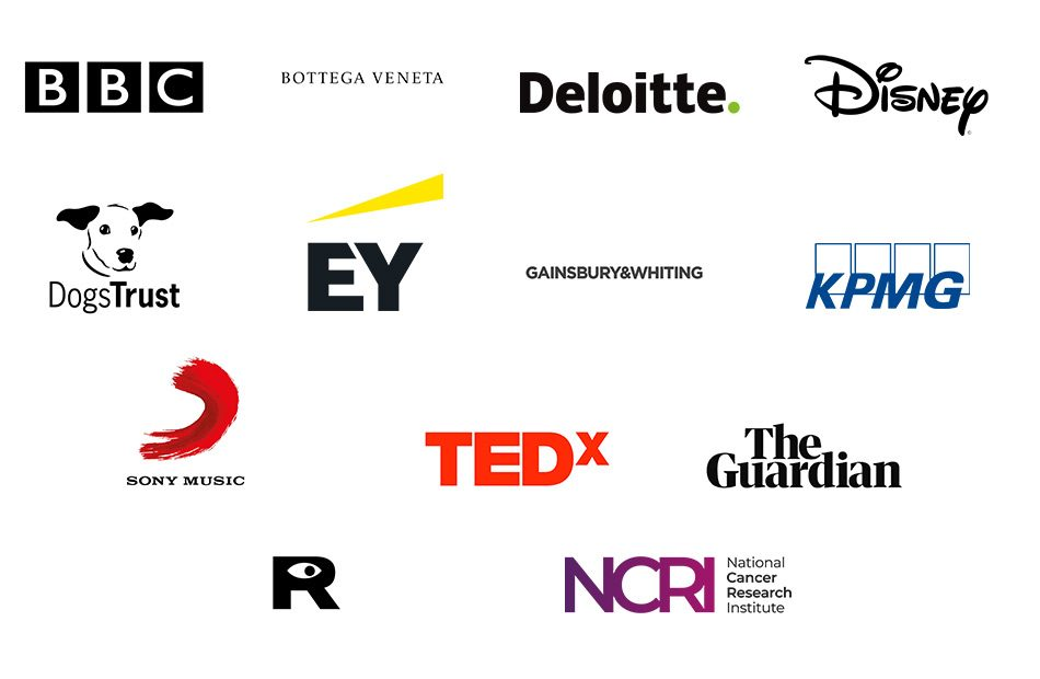 Hire our venues. Our clients logos