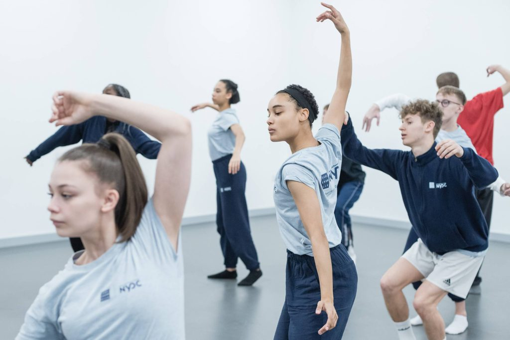 The National Youth Dance Company in rehearsal