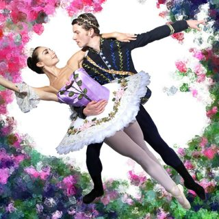 A male and female ballerina dressed as a Prince and a Princess